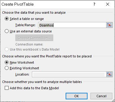 Hướng dẫn tính phần trăm thay đổi bằng Pivot Table trong Excel