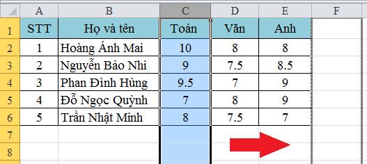 Cách di chuyển hàng, di chuyển cột cực nhanh trong Excel